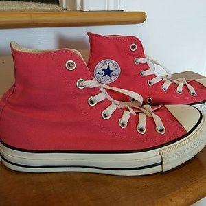 Hot Pink Converse High Tops